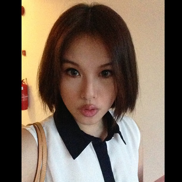A proper view of my Japanese bob hair, un-styled. What do you think? #japanese #japanesebob #hairstyle #hair #newhairstyle #selfie #self
