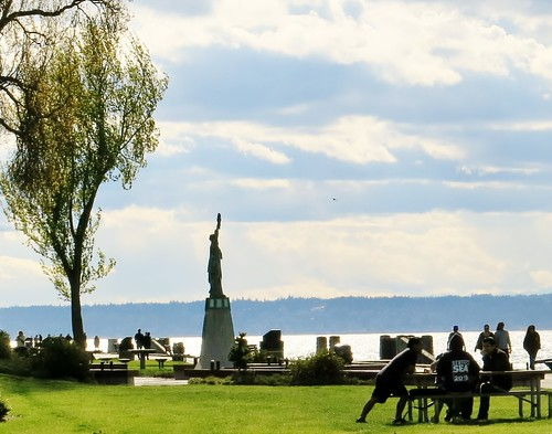 Alki Beach Statue of Liberty