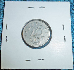 25 Cents 1970 Netherlands Antilles (2)
