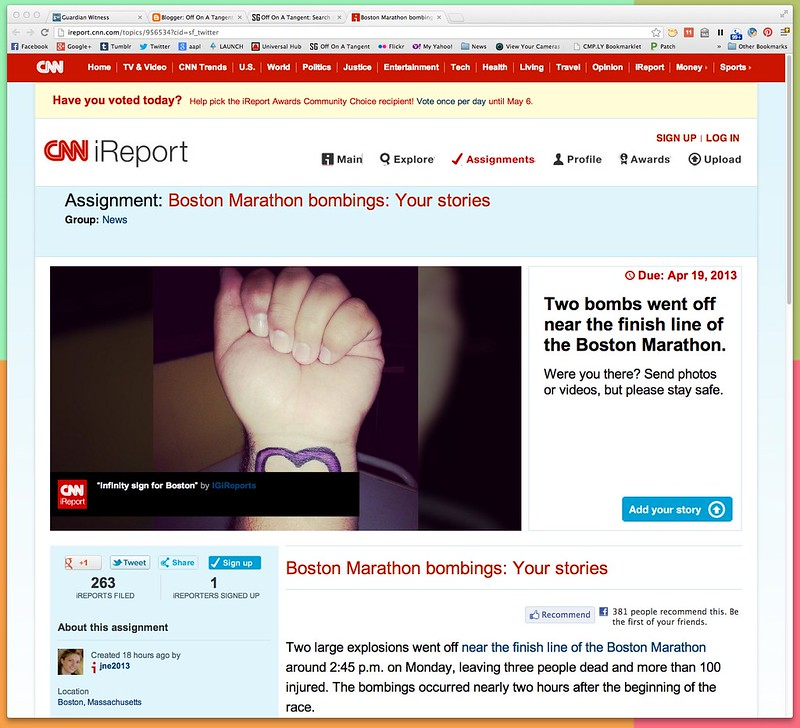 Boston Marathon bombings: Your stories: News & Videos about Boston Marathon bombings: Your stories - CNN iReport