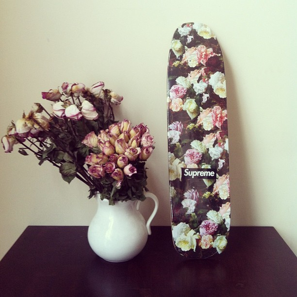 Print Inspiration Mood Board - Roses & Bandanas - Supreme Power Corruption Lies Deck