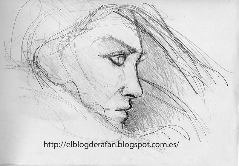 Dibujo Mujer Perfil