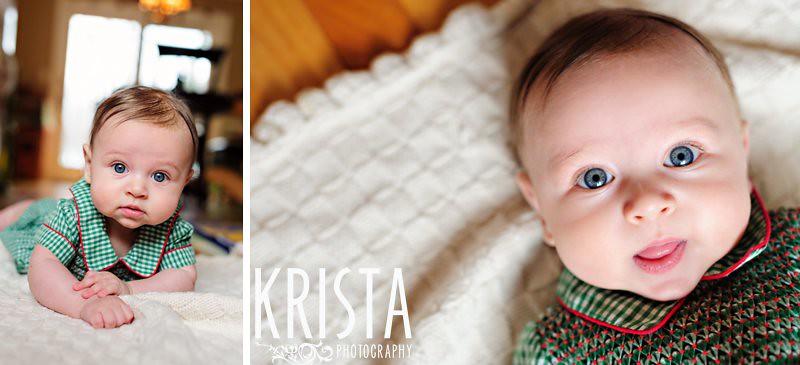 baby boy 4 month portrait