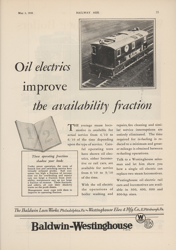 Baldwin-Westinghouse Oil Electrics