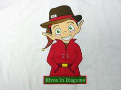 Elves in Disguise 2012 T-Shirt - Thank You Sponsors & Volunteers!