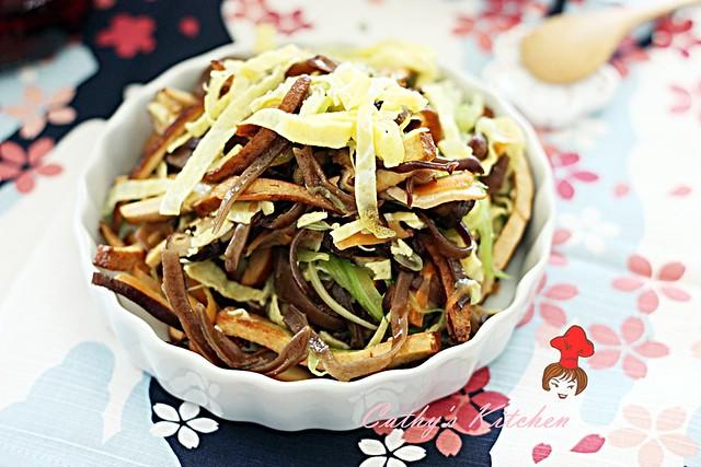 涼拌芹菜干絲 Celery with bean curd 4