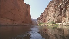 Grand Canyon National Park: B-roll Video: Flat Water Boating and Reflections - Colorado River