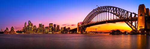 city bridge light sunset panorama sun house skyline architecture photoshop canon lights opera glow stitch harbour dusk sydney sigma australia micro nsw 20mm 1020mm tones hue lightroom postprocessing 600d