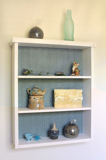 Fabric Lined Shelf, 4