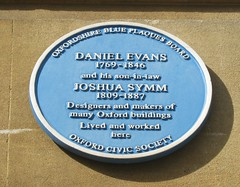 Photo of Joshua Symm and Daniel Evans blue plaque