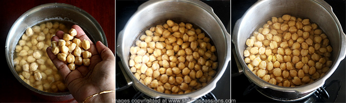 How to make channa sundal - Step1