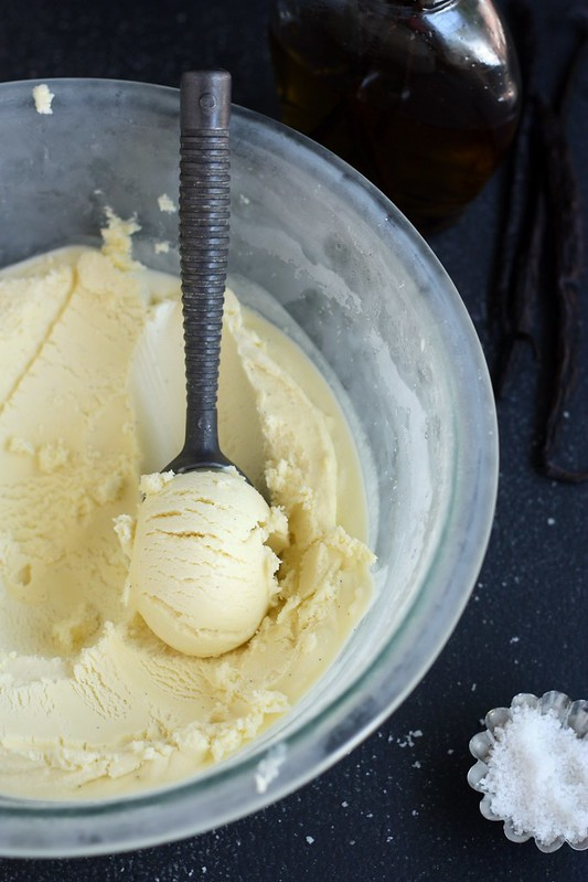 Vanilla Bean Olive Oil Ice Cream