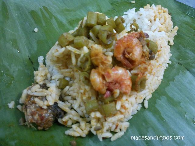 nasi lemak udang ikan