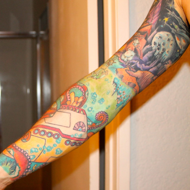 yellow submarine tattoo sleeve the inside of my sleeve ada flickr photo sharing. Black Bedroom Furniture Sets. Home Design Ideas