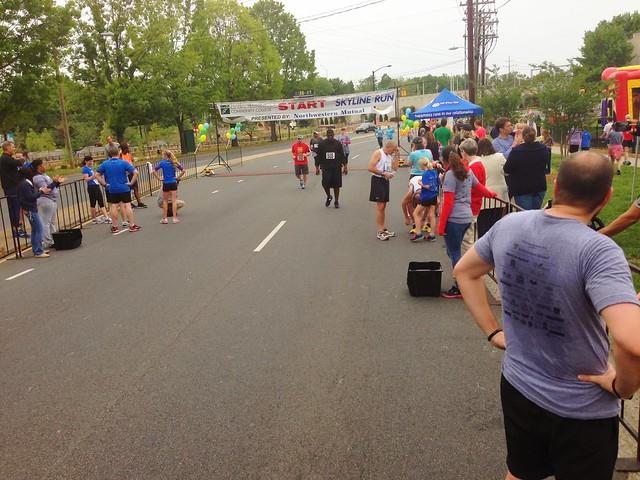 CPCC skyline 5k finish line