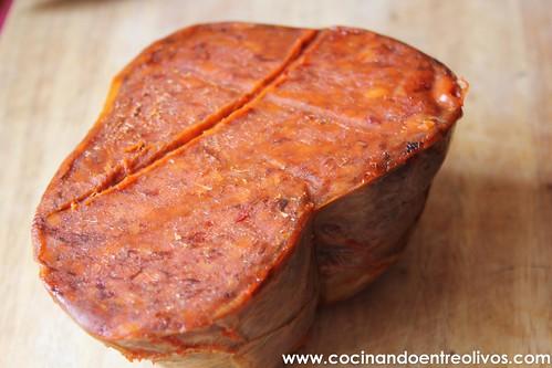 Pollo relleno de sobrasada www.cocinandoentreolivos (2)