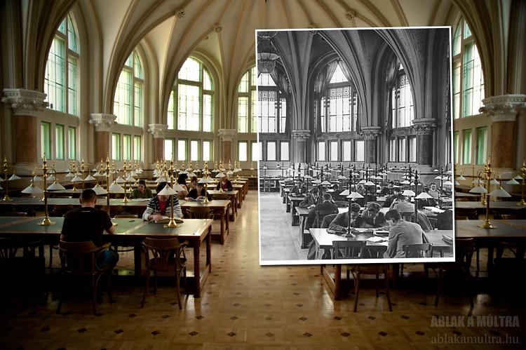 Budapest, XI. Műszaki Egyetem, Könyvtár fortepan_24138