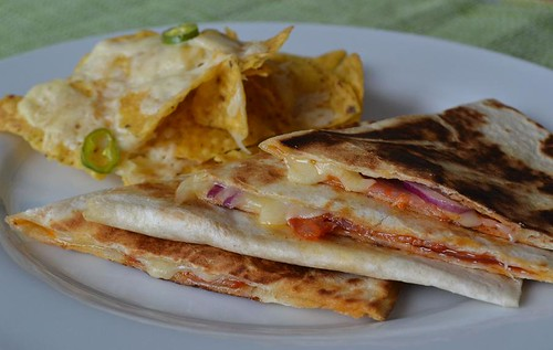 10 minute quesadillas and cheesy nachos