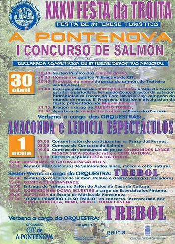 A Pontenova 2013 - XXXV Festa da Troita - cartel