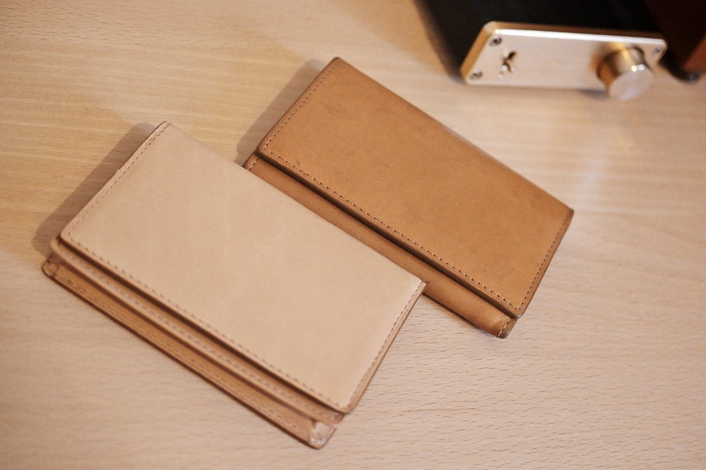 Aging - Leather card case.