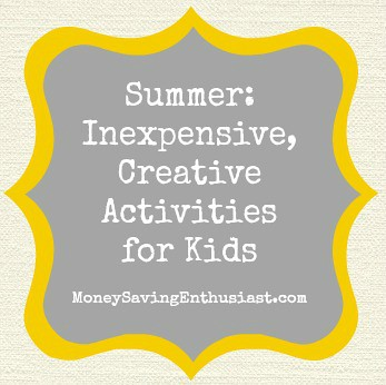 Money Saving Tips: Creative Activities for Kids