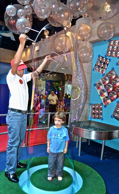 bubble fun at a museum for kids