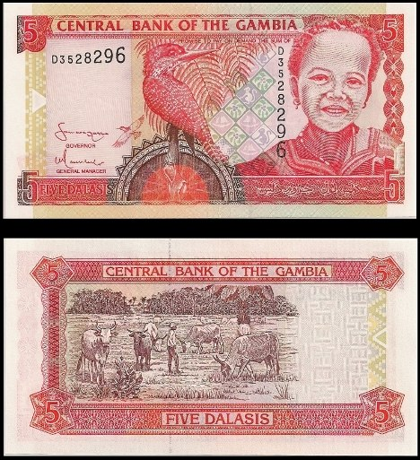 5 Dalasis Gambia 2001-2005, Pick 20