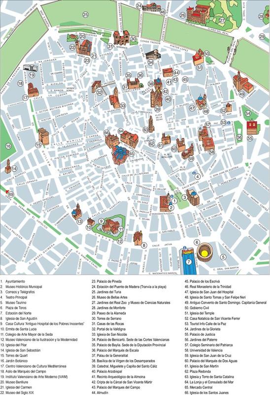 Grande Mapa Turistico Valencia