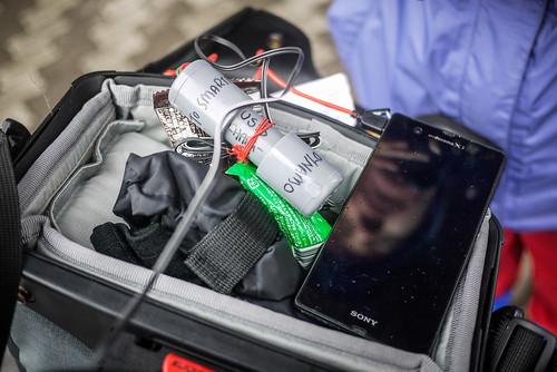 DIY USB dynamo charger for a bicycle (Hokkaido, Japan)