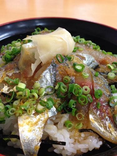 アジ丼(駿河健康ランド)