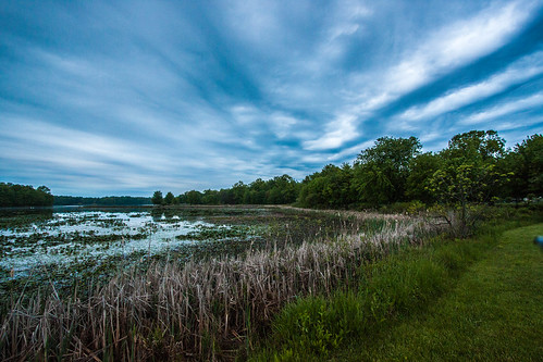 lake landscape spring day cloudy pennsylvania poconos minsilake