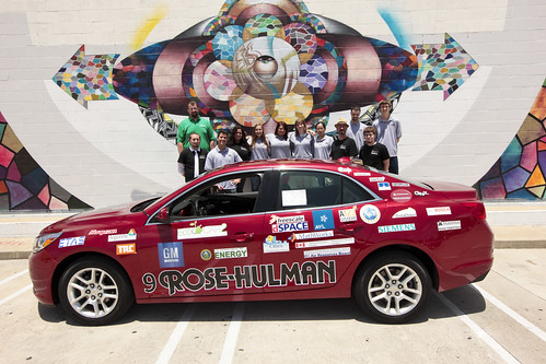 Rose-Hulman Institute of Technology uses Siemens PLM software in the design of their electric EcoCAR2 vehicle.