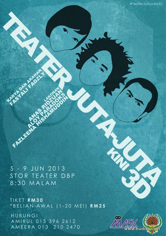 Poster Teater Juta Juta Kini 3D