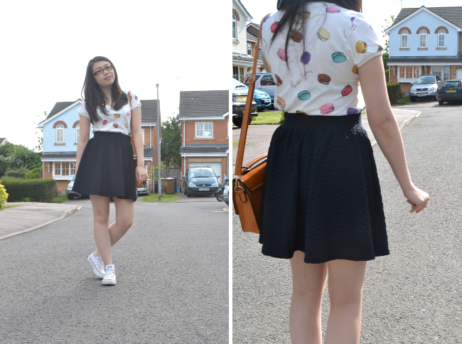 Daisybutter - UK Style and Fashion Blog: ways to wear, uniqlo laduree, uniqlo collaboration, miss selfridge, casual chic, yeswalker, converse