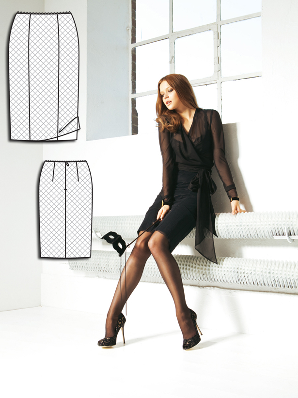 Modern japanese dress patterns - This Is The Perfect Pencil Skirt For A Hot Date Night A Sheer Overlay