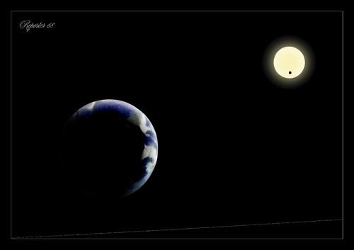 Earth, Venus and Sun