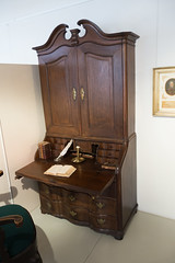 Antique cabinet and writing desk