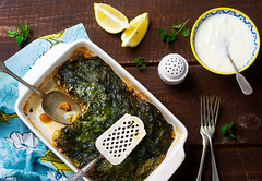 Dolma Style Chicken and Swiss Chard Spring Moussak…
