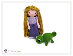 Rapunzel and Pascal the chameleon