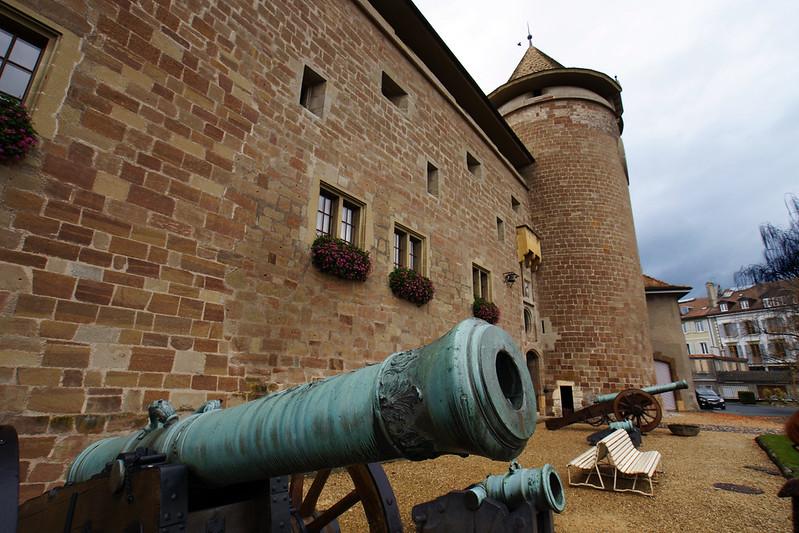 Castle walls, Morges, Switzerland