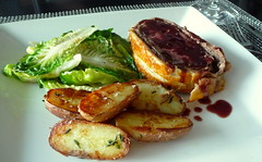 Beef Wellington with Red Wine Sauce,  Sautéed Gem…