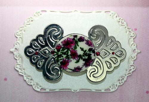 Faux Porcelain Barrette Pink