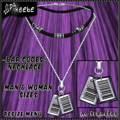 -P- Bar Codes Necklace