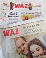 Die WAZ feiert Geburtstag: Mehr als Zeitung - Eine Beilage zum 65. Geburtstag