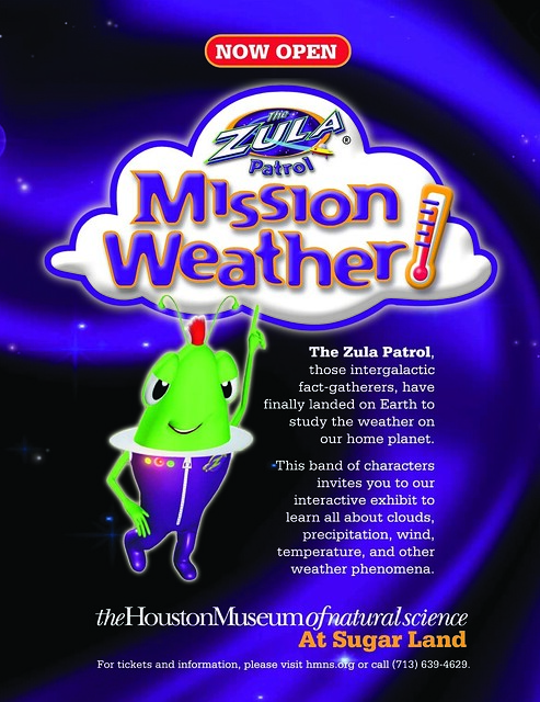 "Visit ""Weather Land"" April 5 at HMNS Sugar Land for Friday Family Fun Night!"