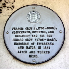Photo of Francis Crow and Edward Crow white plaque