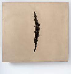 <strong>The Tainted - </strong> <br />Shan Hur, Crack on the wall #3, 2013, bronze, 100 cm x 90 cm x 7 cm