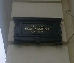 Photo of Richard 'Beau' Nash black plaque