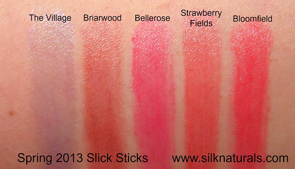 silk naturals slick sticks swatches