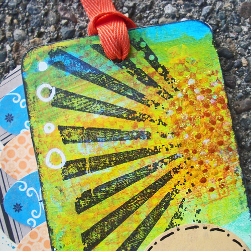Sunburst Layered Ink Tag